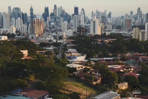 Panama City, Central America, citylife, sunset, skyscrapers, Tornillo, Soho Mall, Tower Bank