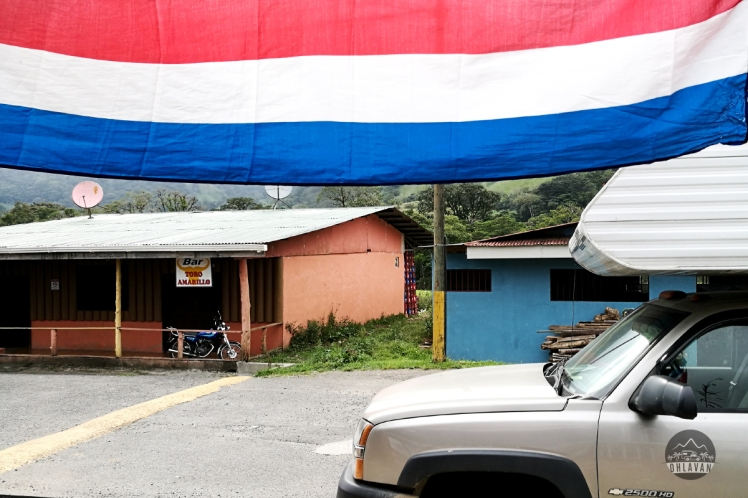 Bajos del Toro, Costa Rica, tico, flag, proud, campertruck, Ohlavan, roadtrip