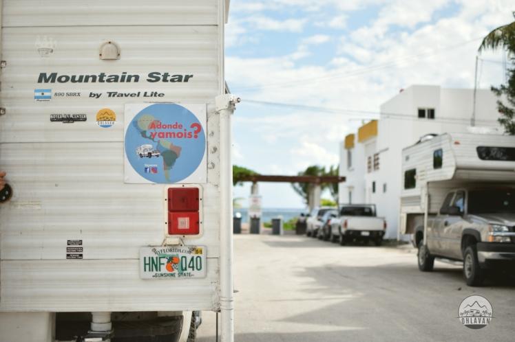 Ohlavan, truck camper, Central America, Centroamérica, trip, viaje, roadtrip, Puerto Morelos, Adondevamois, México, Yucatán, iOverlander, beach, playa