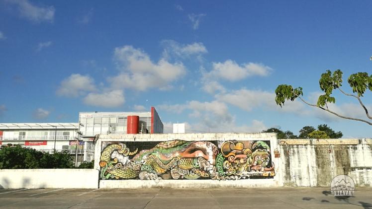 Ohlavan, truck camper, Playa del Carmen, street art, graffiti, Central America, Centroamérica, trip, viaje, roadtrip, Yucatán, iOverlander, beach, playa