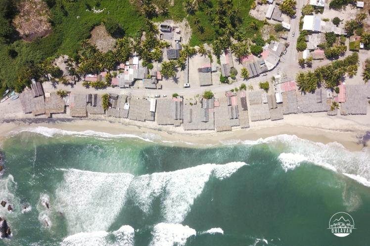 Playa Maruata, surfing, Michoacán, México, roadtrip, adventure, Ohlavan, overlanding, drone