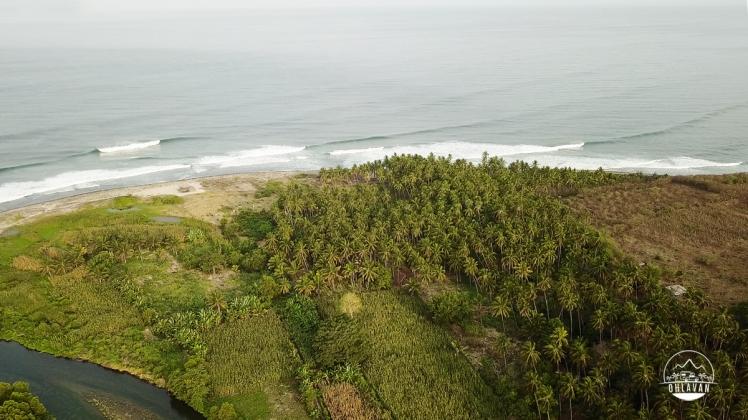 La Ticla, surfing, Michoacán, México, roadtrip, adventure, Ohlavan, overlanding, drone