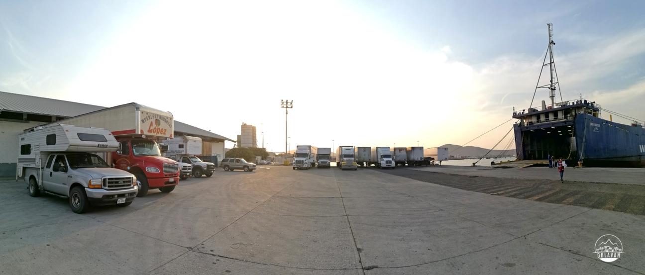 Ohlavan, truckcamper, overland, Central America, Panamericana, México, Topolobampo, La Paz, Baja California, ferry, TMC, shipping, roadtrip, adventure, Basque, Haitian