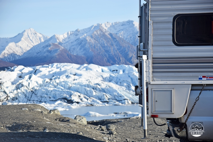Ohlavan, truckcamper, roadtrip, Panamerican Highway, Panama to Alaska, Basque, Haitian, overland, adventure, Alaska Highway, Alaska, 49th state, Matanuska Glacier